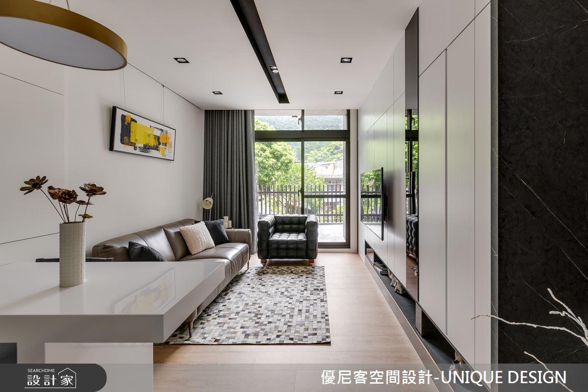 12坪新成屋(5年以下)_簡約風客廳案例圖片_優尼客空間設計-UNIQUE DESIGN_優尼客_31之3