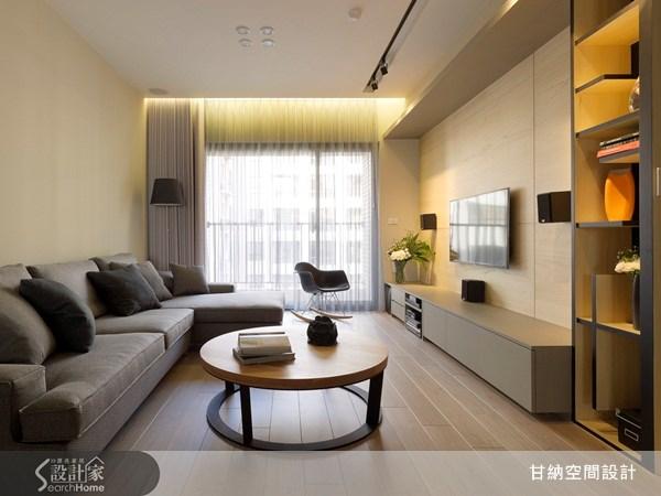 28坪新成屋(5年以下)_休閒風客廳案例圖片_甘納空間設計_甘納_07之2