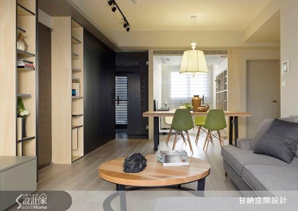 28坪新成屋(5年以下)_休閒風客廳案例圖片_甘納空間設計_甘納_07之4