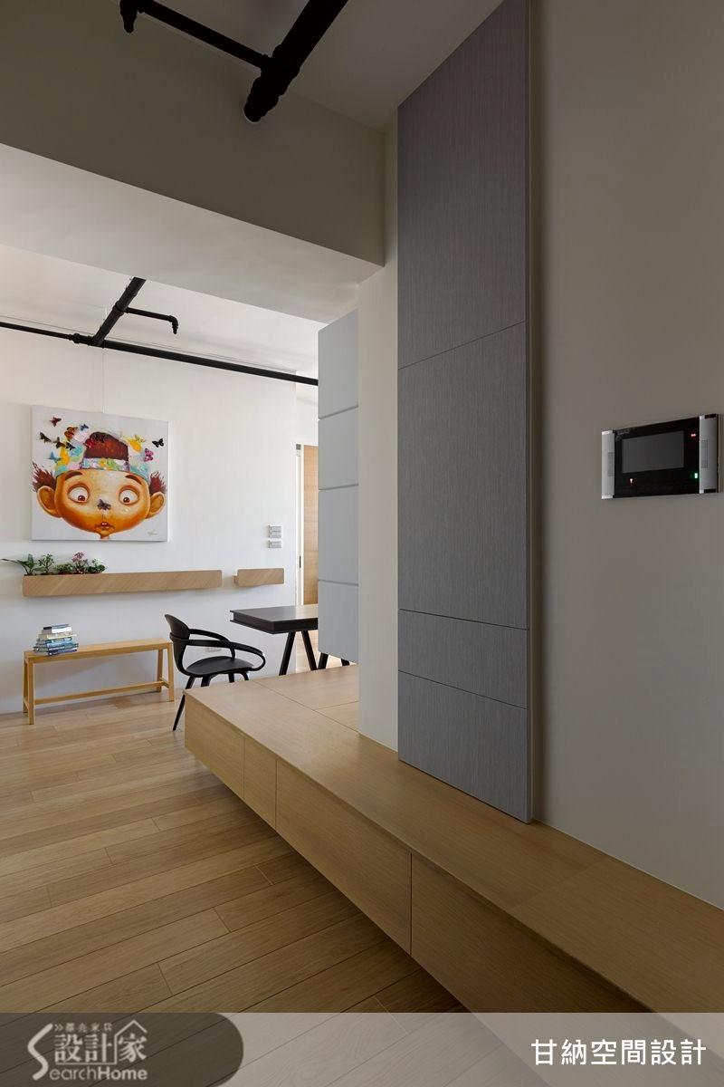 20坪新成屋(5年以下)_混搭風玄關案例圖片_甘納空間設計_甘納_14之1