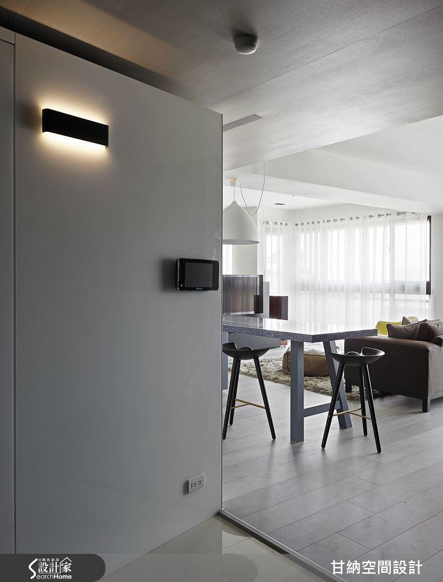 37坪新成屋(5年以下)_混搭風玄關吧檯案例圖片_甘納空間設計_甘納_11之1
