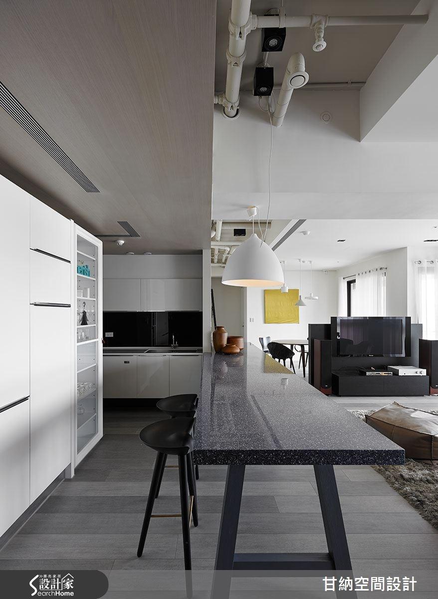 37坪新成屋(5年以下)_混搭風餐廳吧檯案例圖片_甘納空間設計_甘納_11之2