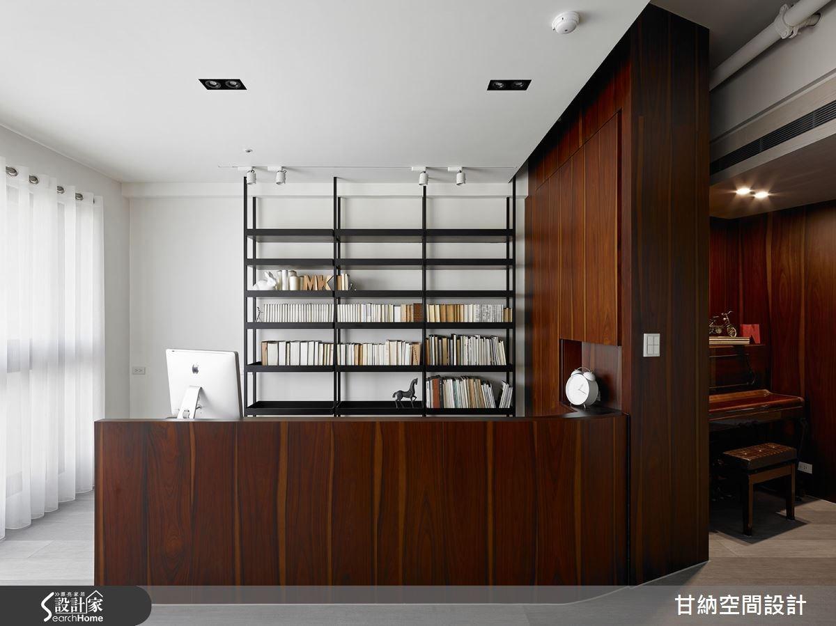 37坪新成屋(5年以下)_混搭風書房案例圖片_甘納空間設計_甘納_11之3
