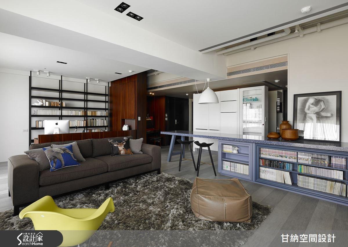 37坪新成屋(5年以下)_混搭風客廳吧檯案例圖片_甘納空間設計_甘納_11之4