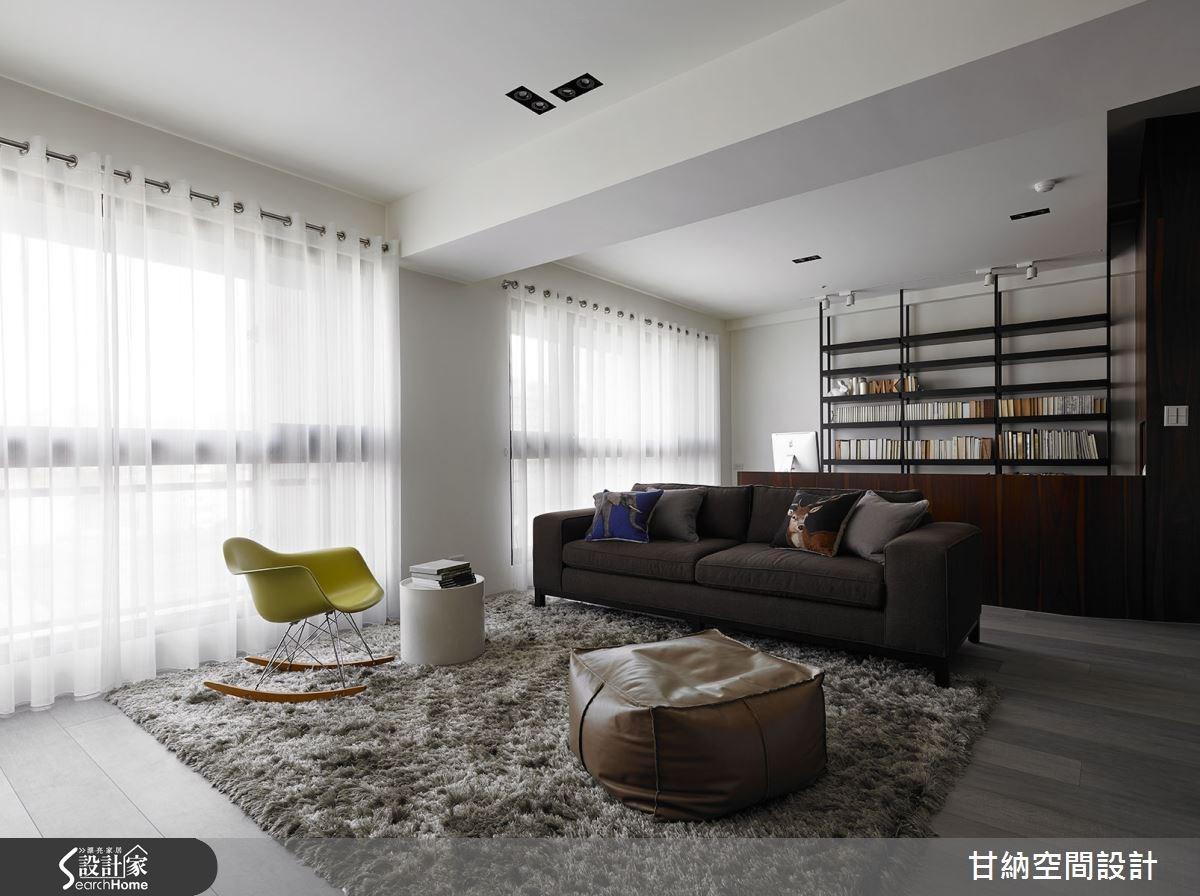 37坪新成屋(5年以下)_混搭風客廳案例圖片_甘納空間設計_甘納_11之5