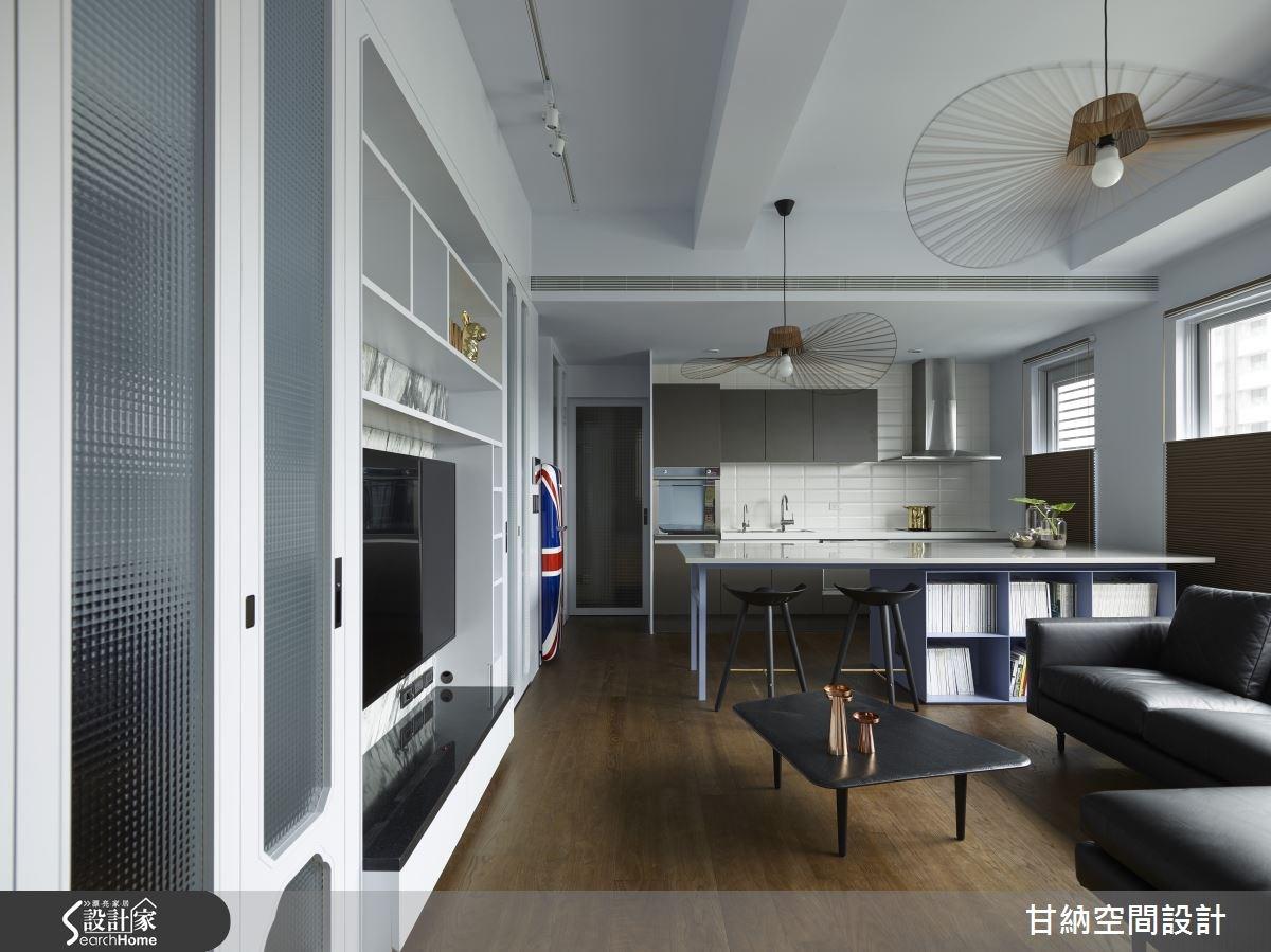 22坪新成屋(5年以下)_混搭風客廳案例圖片_甘納空間設計_甘納_22之3