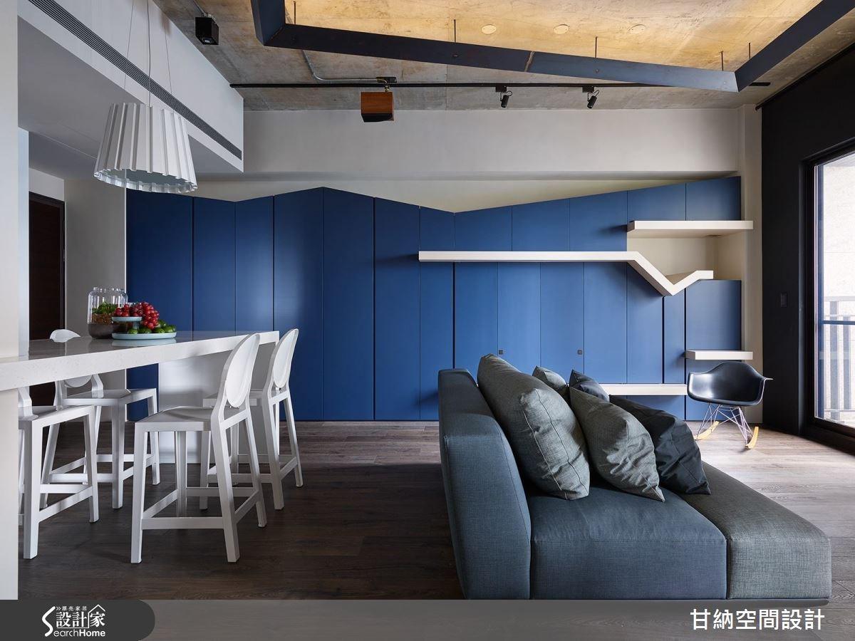 19坪新成屋(5年以下)_混搭風客廳案例圖片_甘納空間設計_甘納_24之2