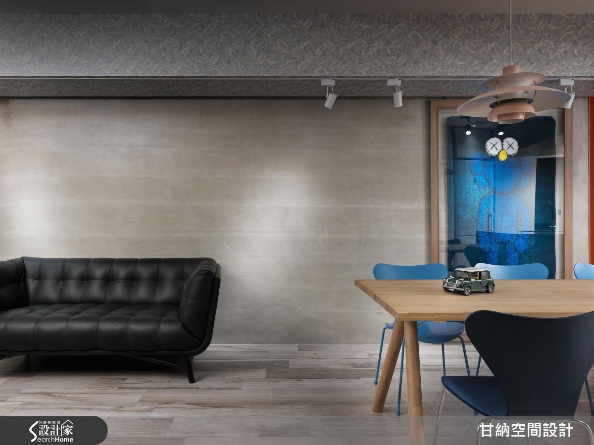 26坪老屋(16~30年)_混搭風客廳案例圖片_甘納空間設計_甘納_28之1
