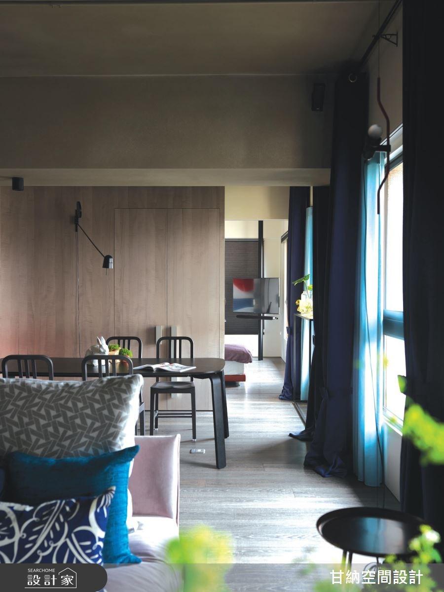 34坪新成屋(5年以下)_工業風客廳案例圖片_甘納空間設計_甘納_29之3