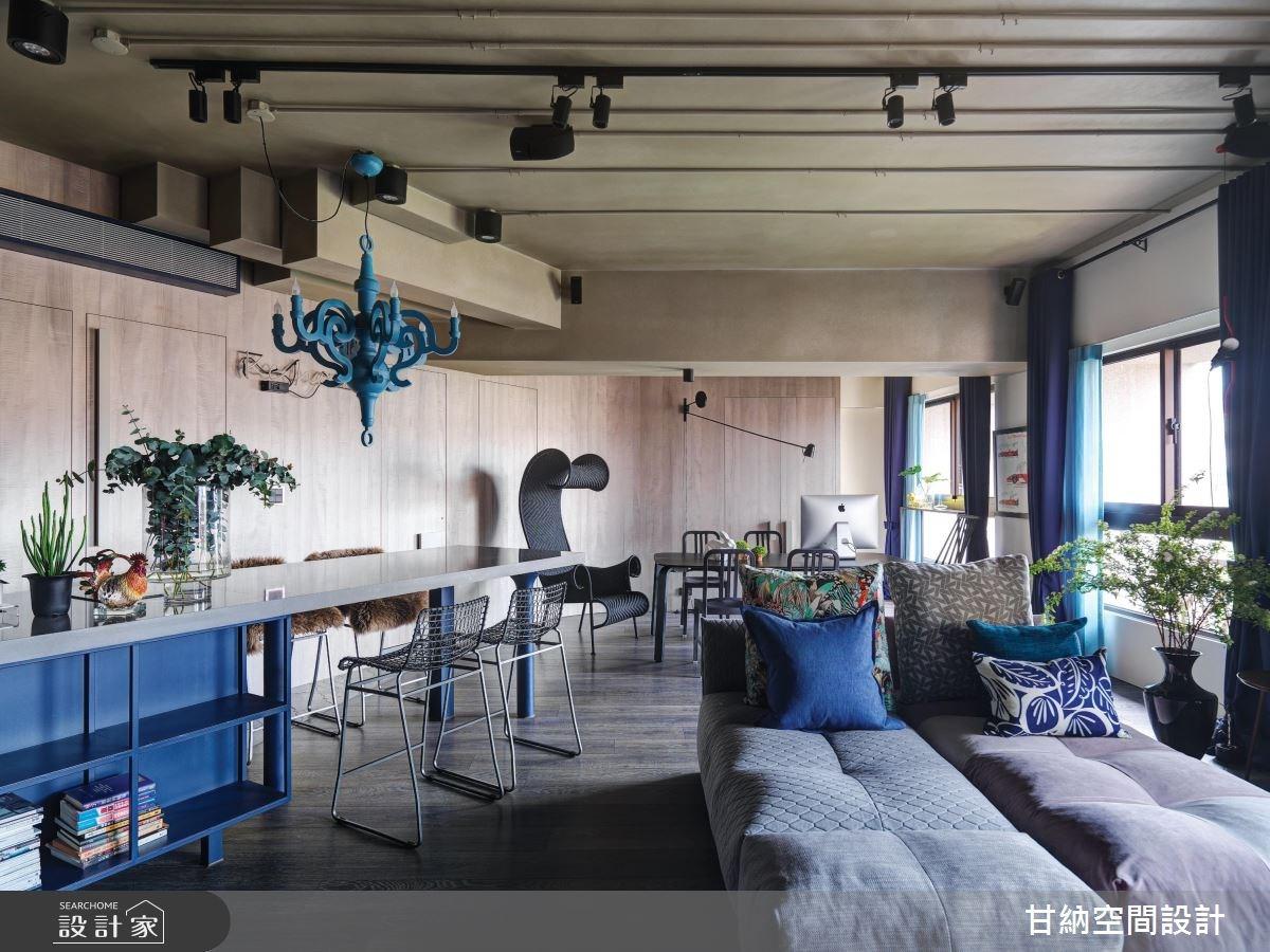 34坪新成屋(5年以下)_工業風客廳餐廳案例圖片_甘納空間設計_甘納_29之4