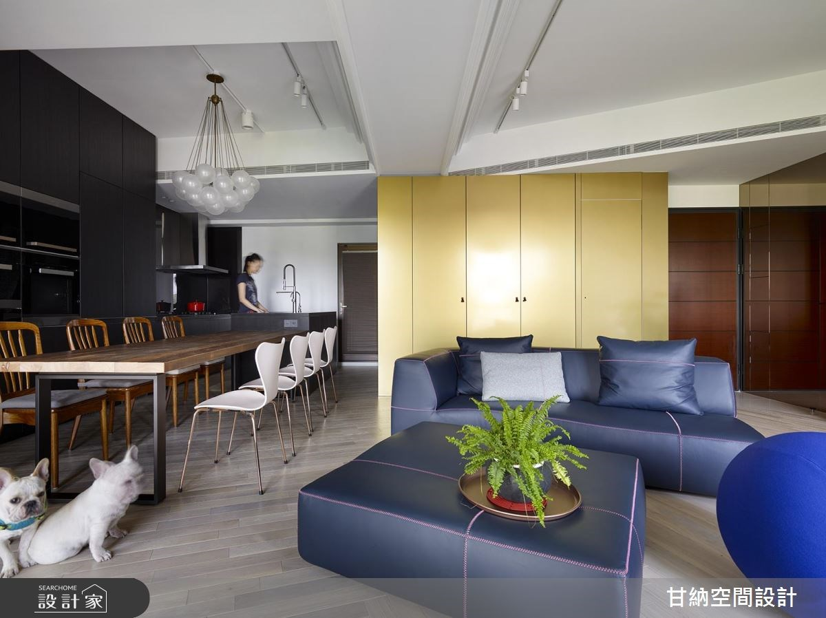 23坪新成屋(5年以下)_混搭風客廳案例圖片_甘納空間設計_甘納_35之3