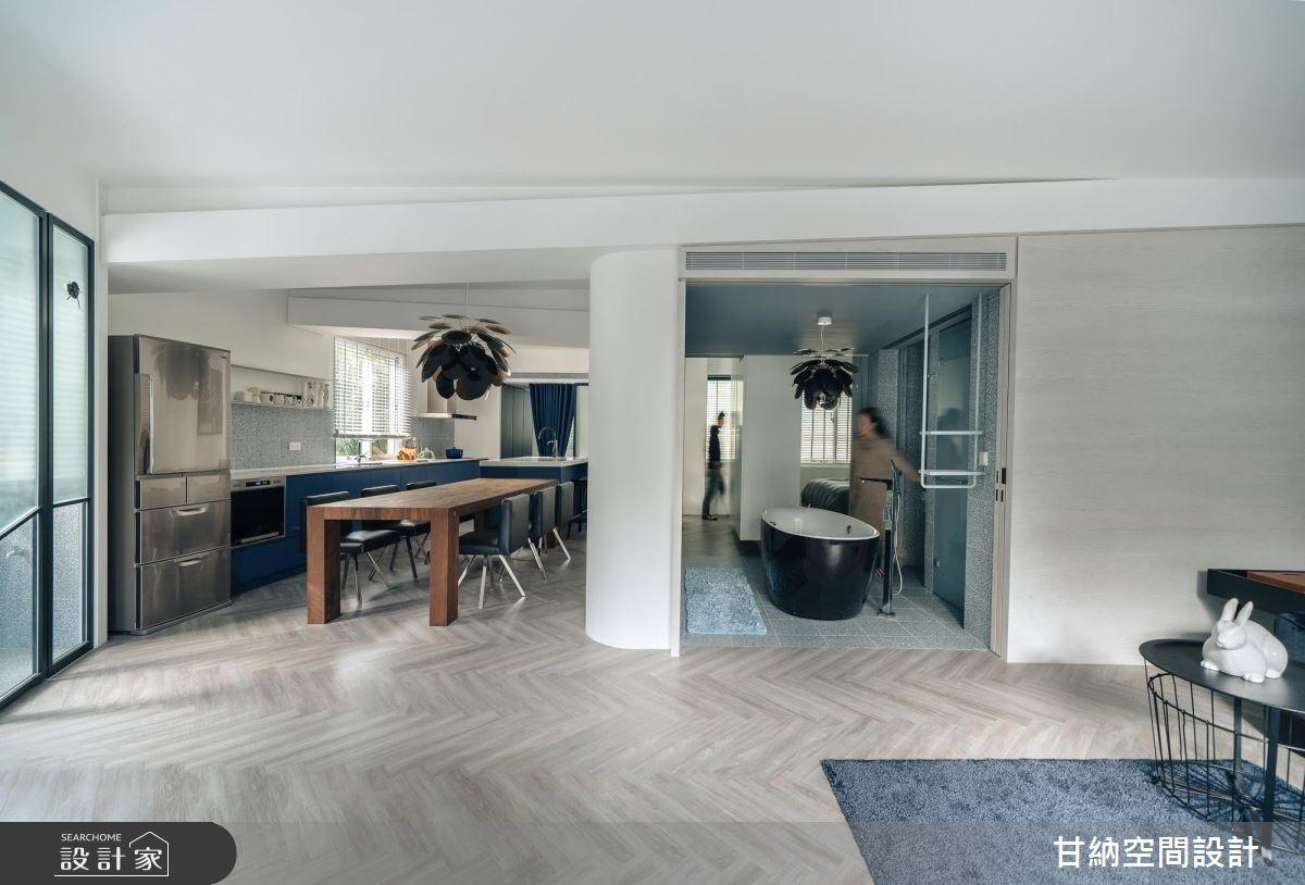 30坪中古屋(5~15年)_混搭風餐廳廚房浴室案例圖片_甘納空間設計_甘納_38之4