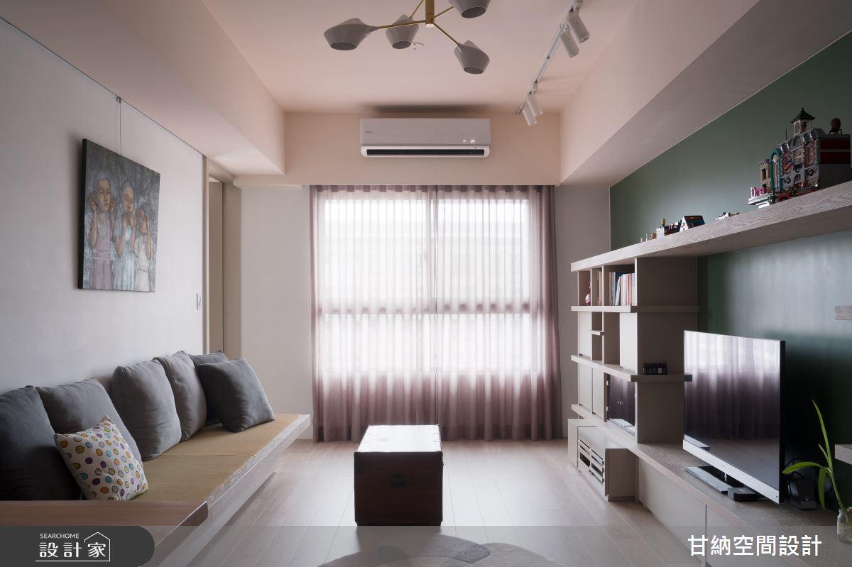 24坪新成屋(5年以下)_混搭風客廳案例圖片_甘納空間設計_甘納_41之4
