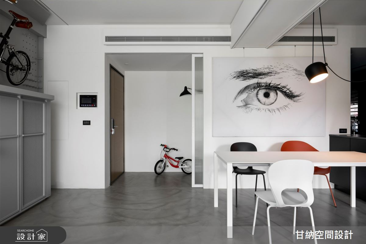 23坪新成屋(5年以下)_現代風玄關餐廳案例圖片_甘納空間設計_甘納_47之3