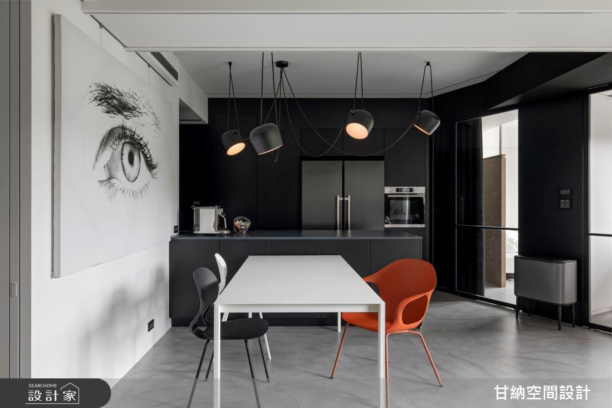 23坪新成屋(5年以下)_現代風餐廳吧檯案例圖片_甘納空間設計_甘納_47之5