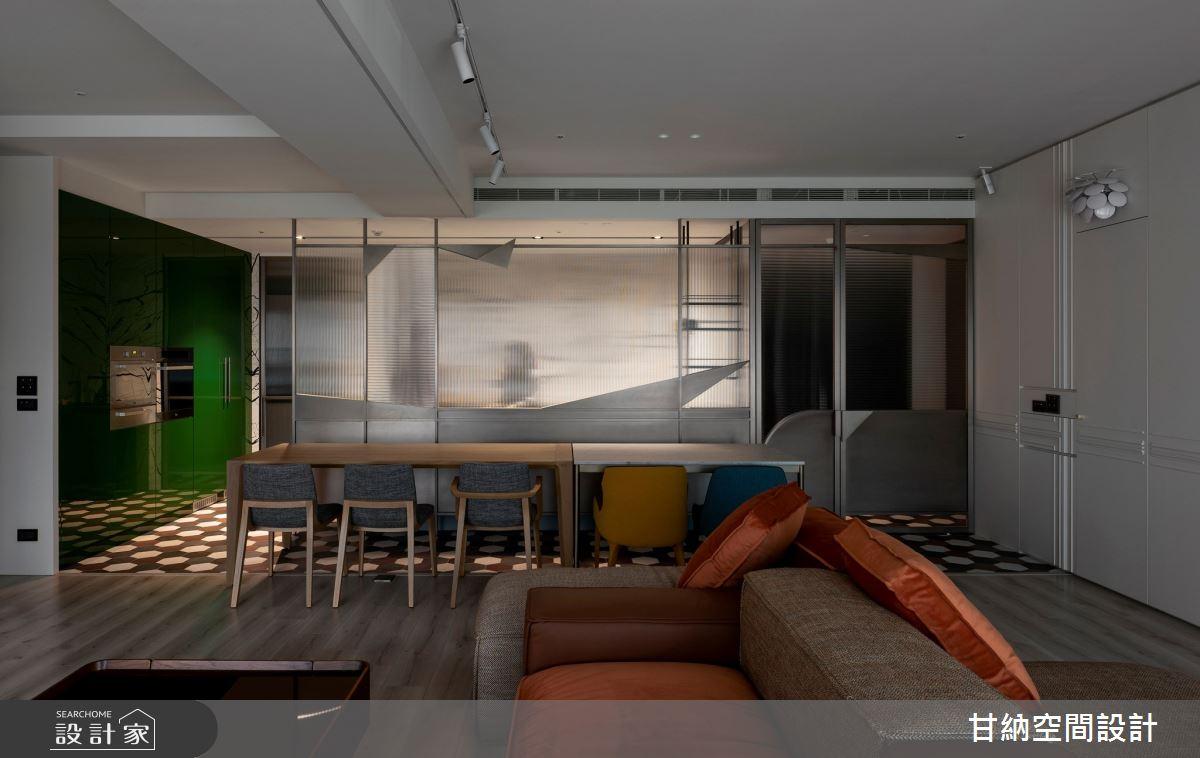 46坪新成屋(5年以下)_混搭風客廳案例圖片_甘納空間設計_甘納_45之4
