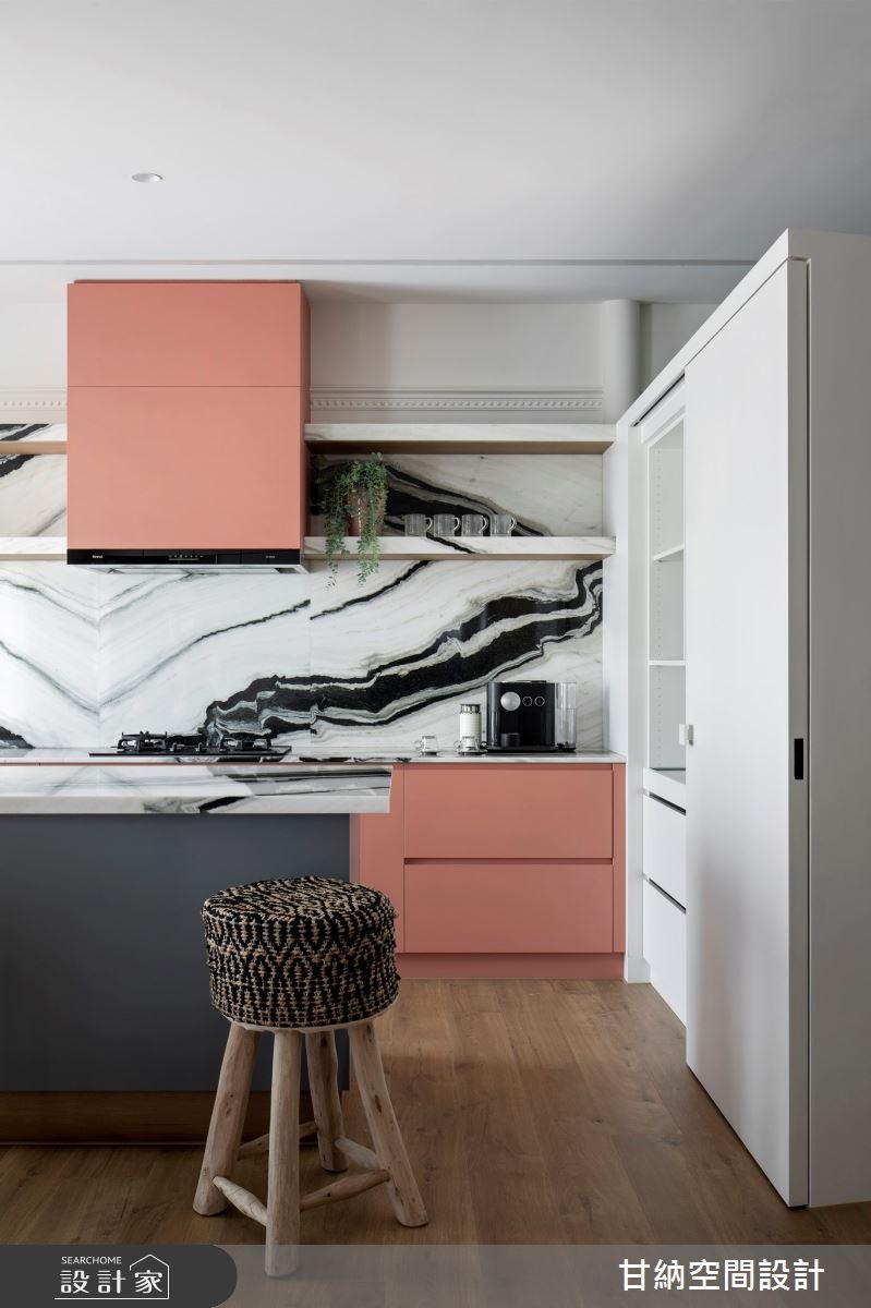 25坪新成屋(5年以下)_混搭風廚房案例圖片_甘納空間設計_甘納_50之5