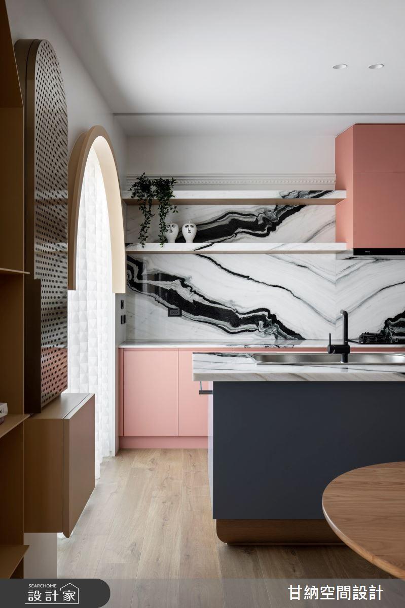 25坪新成屋(5年以下)_混搭風廚房案例圖片_甘納空間設計_甘納_50之4
