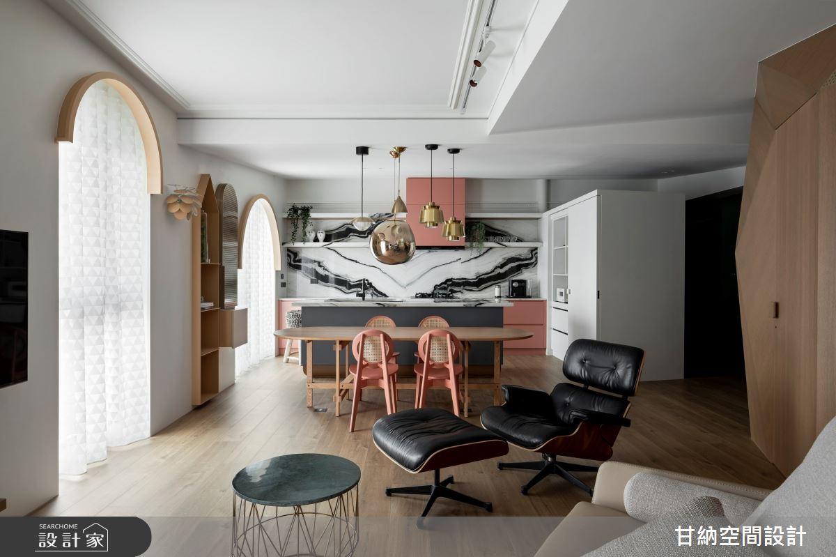 25坪新成屋(5年以下)_混搭風餐廳案例圖片_甘納空間設計_甘納_50之2