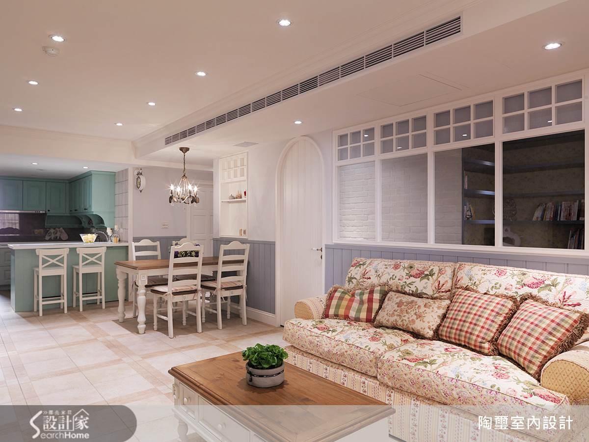 40坪新成屋(5年以下)_鄉村風客廳案例圖片_陶璽空間設計_陶璽_09之7