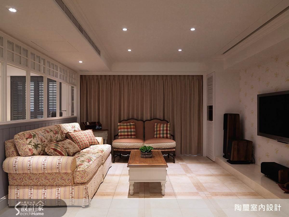40坪新成屋(5年以下)_鄉村風客廳案例圖片_陶璽空間設計_陶璽_09之2