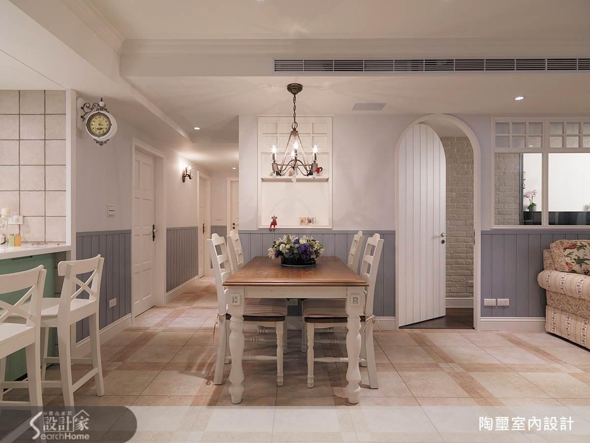 40坪新成屋(5年以下)_鄉村風餐廳案例圖片_陶璽空間設計_陶璽_09之10