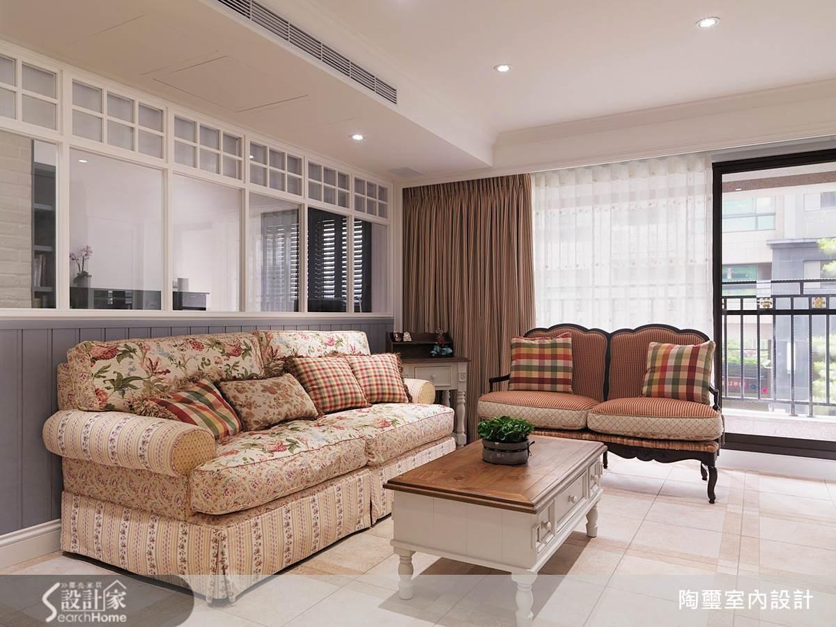 40坪新成屋(5年以下)_鄉村風客廳案例圖片_陶璽空間設計_陶璽_09之3
