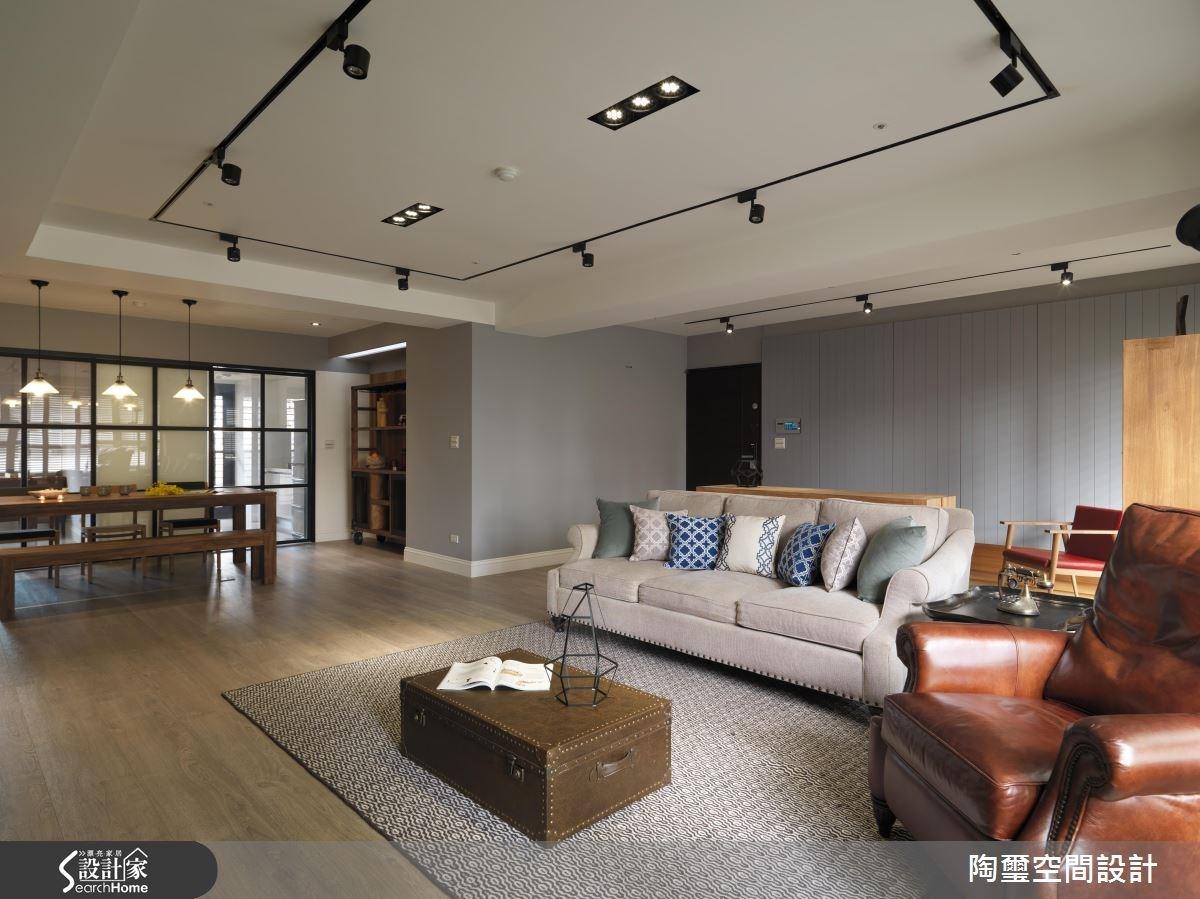 42坪新成屋(5年以下)_美式風客廳案例圖片_陶璽空間設計_陶璽_19之2