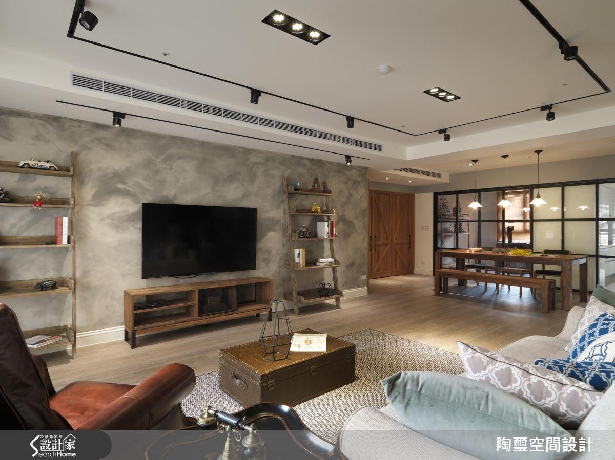 42坪新成屋(5年以下)_美式風客廳案例圖片_陶璽空間設計_陶璽_19之4