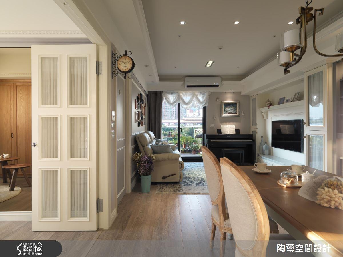 25坪新成屋(5年以下)_新古典客廳餐廳案例圖片_陶璽空間設計_陶璽_22之2
