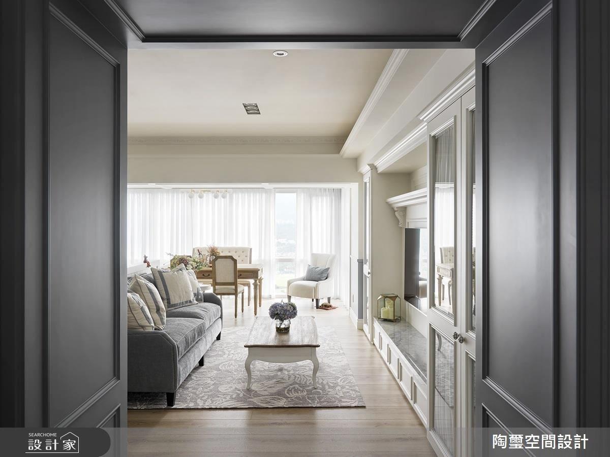 35坪新成屋(5年以下)_美式風玄關客廳案例圖片_陶璽空間設計_陶璽_29之2