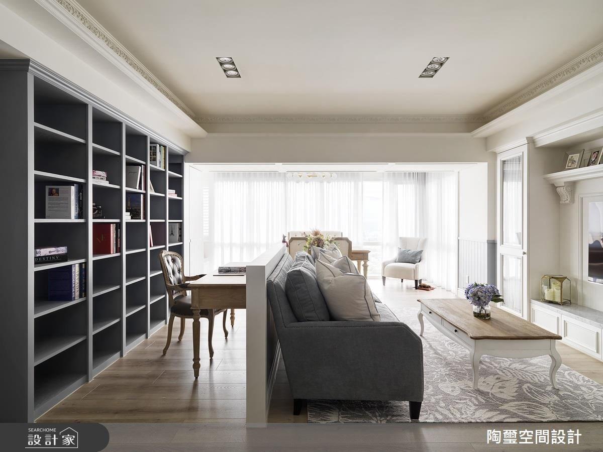 35坪新成屋(5年以下)_美式風客廳案例圖片_陶璽空間設計_陶璽_29之5