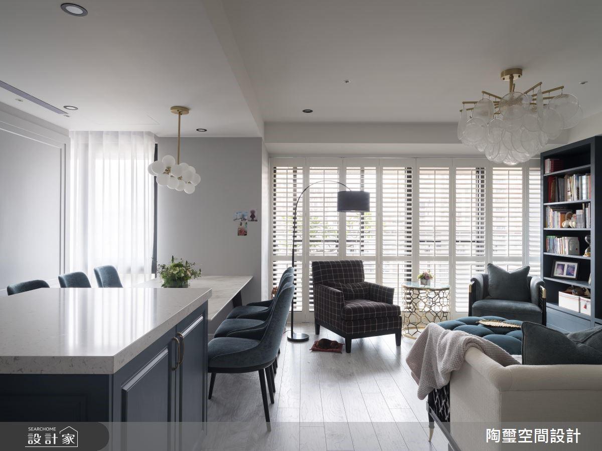 57坪新成屋(5年以下)_美式風客廳餐廳案例圖片_陶璽空間設計_陶璽_34之5