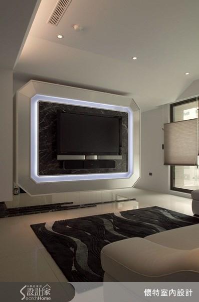 40坪_現代風客廳案例圖片_懷特室內設計_懷特_01之4