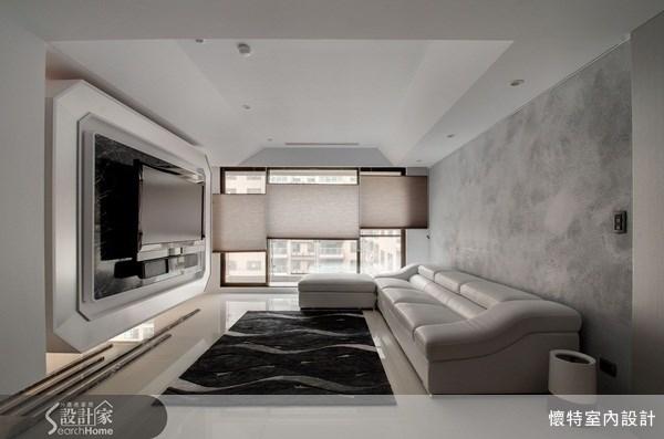 40坪_現代風客廳案例圖片_懷特室內設計_懷特_01之1