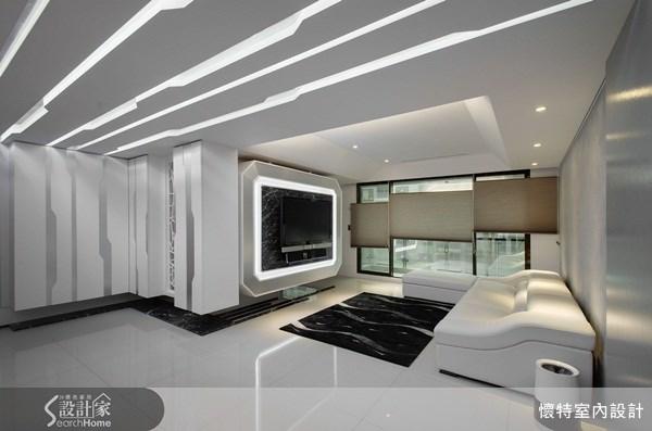 40坪_現代風客廳案例圖片_懷特室內設計_懷特_01之3