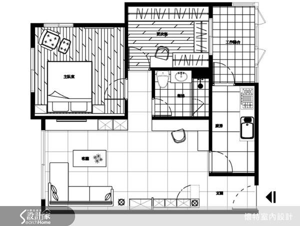 20坪新成屋(5年以下)_現代風案例圖片_懷特室內設計_懷特_04之11
