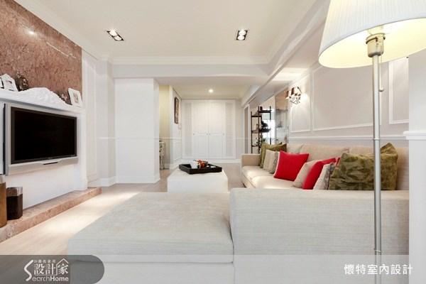 35坪中古屋(5~15年)_新古典客廳案例圖片_懷特室內設計_懷特_10之2