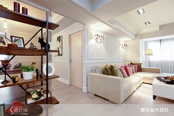 35坪中古屋(5~15年)_新古典客廳案例圖片_懷特室內設計_懷特_10之3