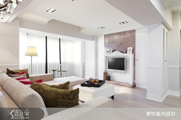 35坪中古屋(5~15年)_新古典客廳案例圖片_懷特室內設計_懷特_10之1