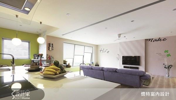 40坪新成屋(5年以下)_現代風吧檯案例圖片_懷特室內設計_懷特_11之3