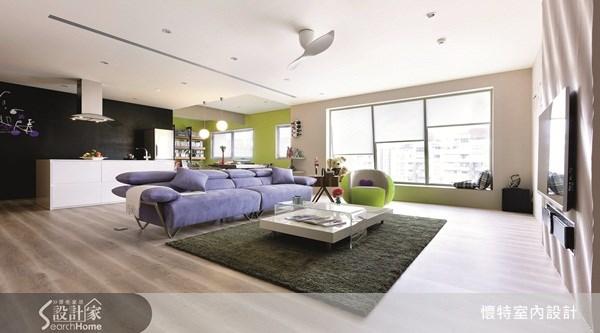40坪新成屋(5年以下)_現代風客廳案例圖片_懷特室內設計_懷特_11之1