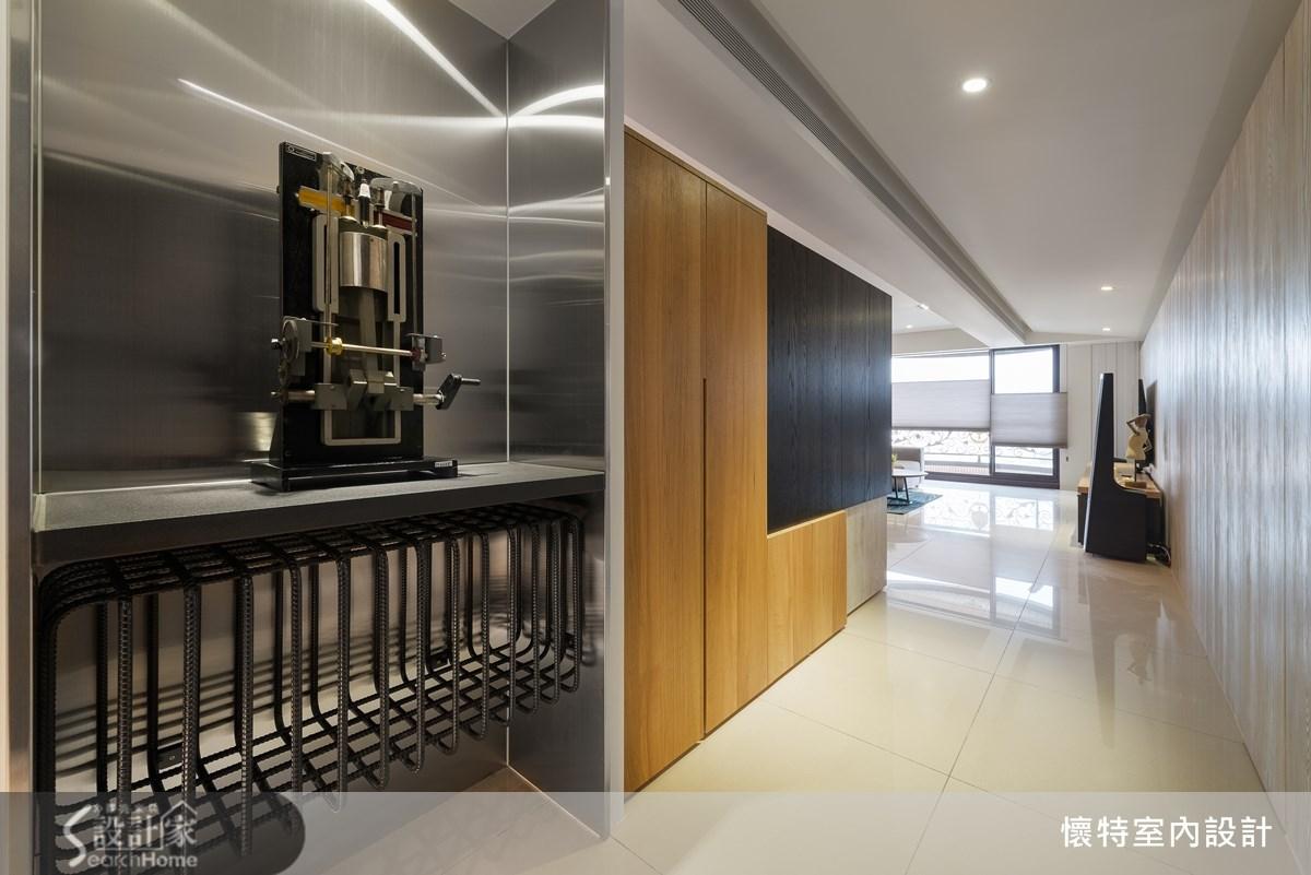 40坪新成屋(5年以下)_工業風走廊案例圖片_懷特室內設計_懷特_16之1
