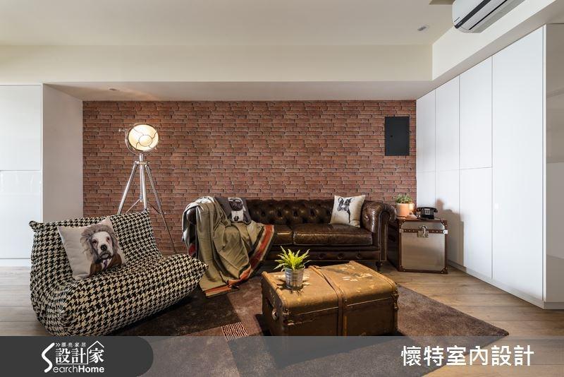 35坪老屋(16~30年)_現代風客廳案例圖片_懷特室內設計_懷特_18之1