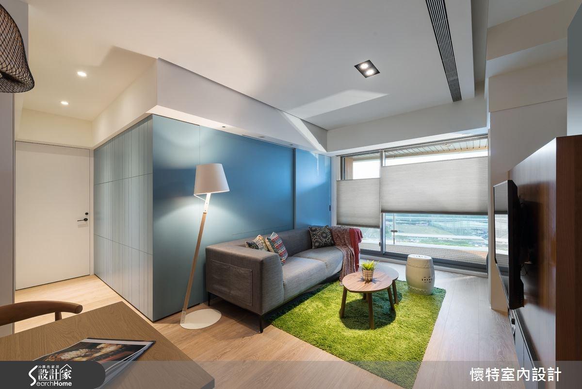 20坪新成屋(5年以下)_現代風客廳案例圖片_懷特室內設計_懷特_20之2