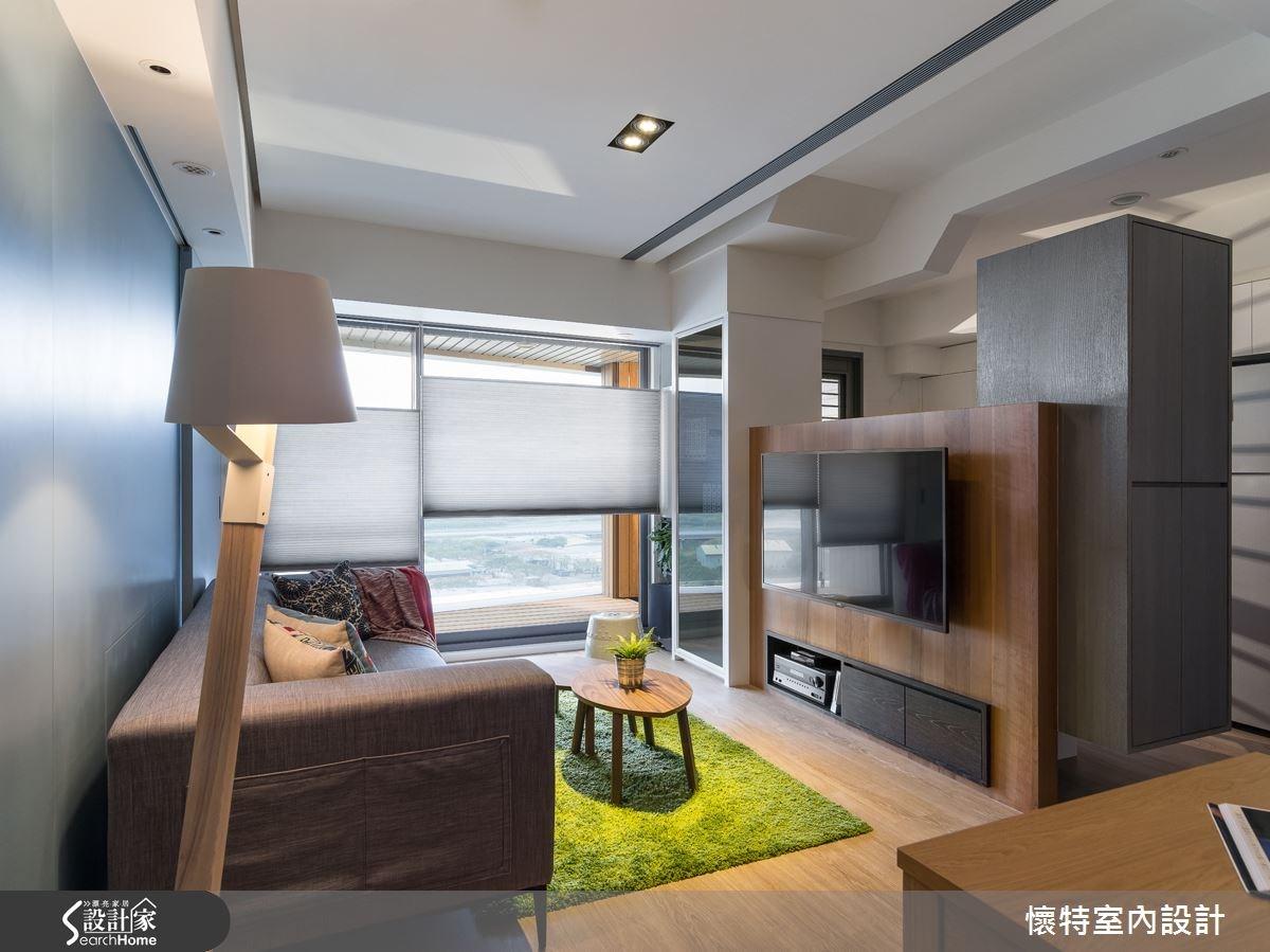 20坪新成屋(5年以下)_現代風客廳案例圖片_懷特室內設計_懷特_20之4