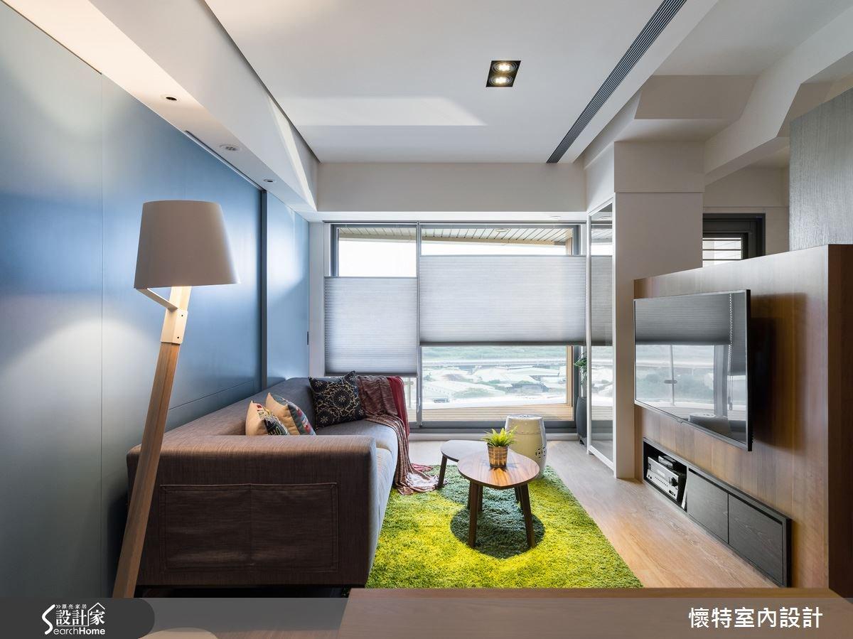 20坪新成屋(5年以下)_現代風客廳案例圖片_懷特室內設計_懷特_20之5