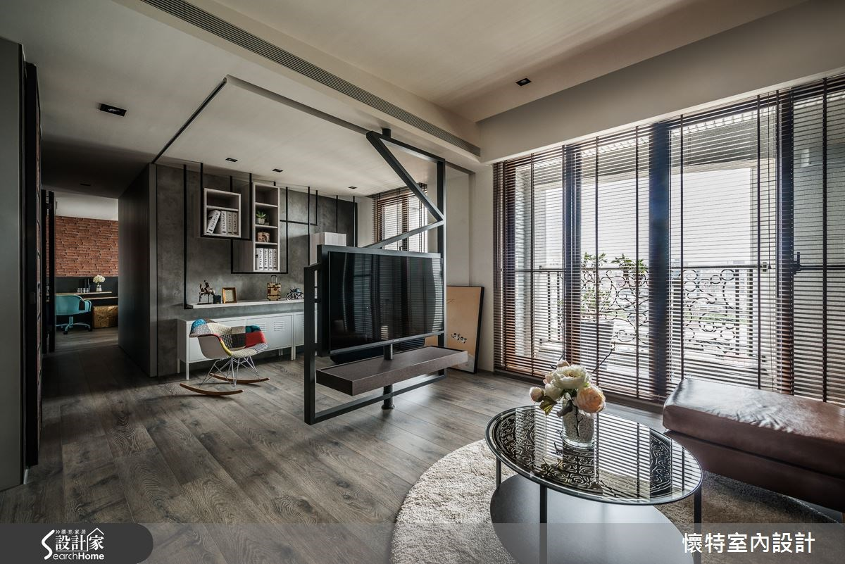 35坪新成屋(5年以下)_現代風客廳案例圖片_懷特室內設計_懷特_23之3