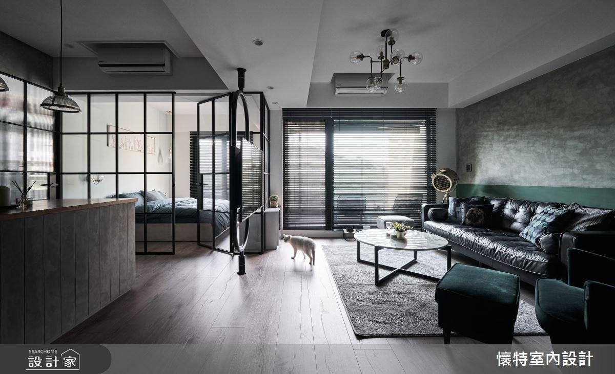 22坪新成屋(5年以下)_現代風客廳吧檯寵物案例圖片_懷特室內設計_懷特_34之1