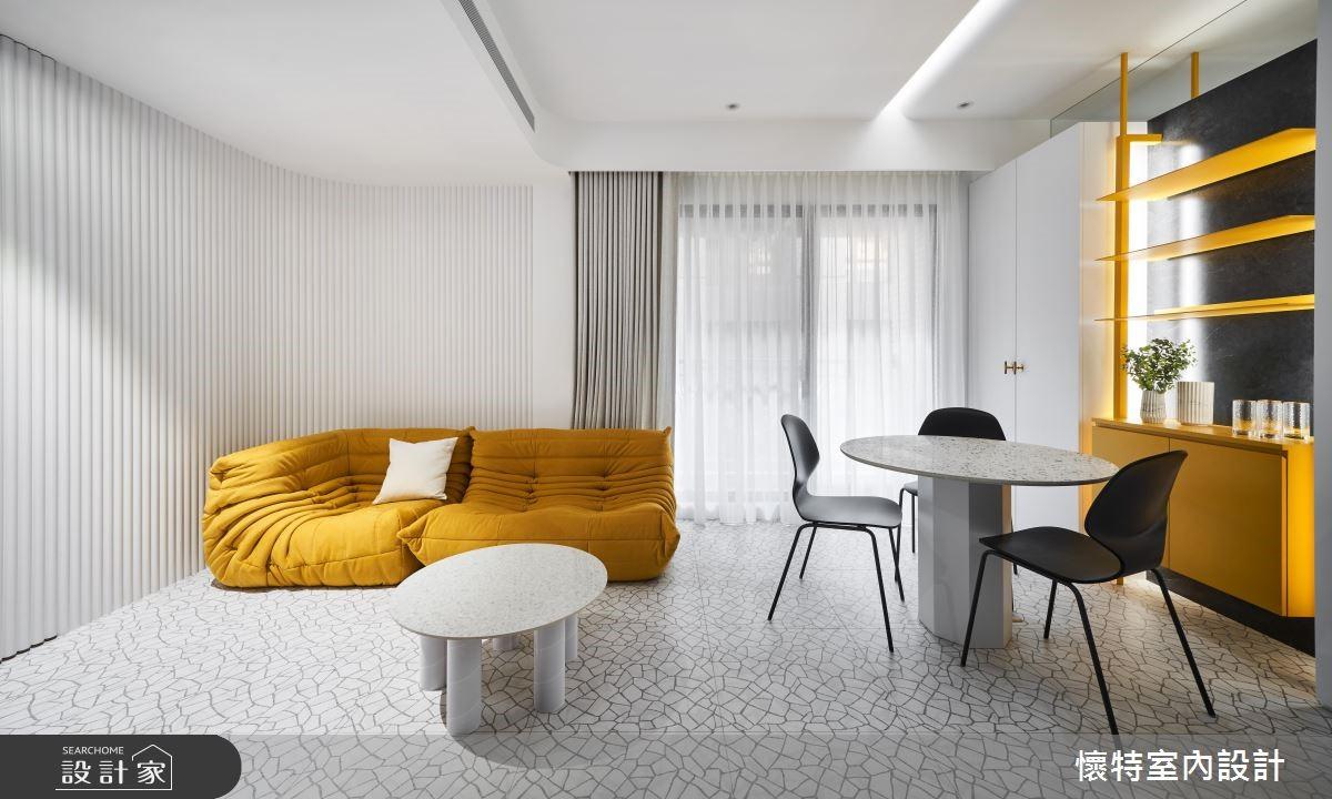 18坪中古屋(5~15年)_現代風客廳餐廳案例圖片_懷特室內設計_懷特_37之4